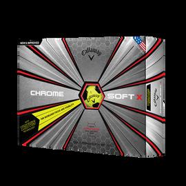 2018 Chrome Soft X Truvis Yellow Golf Balls