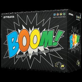 Strata Boom Multi-Color Golf Balls - 24 Pack