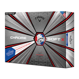 2018 Chrome Soft X Truvis White Red Blue Golf Balls