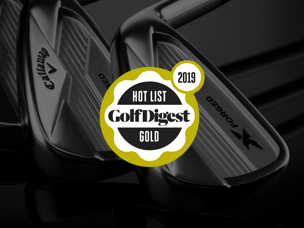 Callaway 2018 X Forged Irons 2018 Golf Digest Hot List Badge
